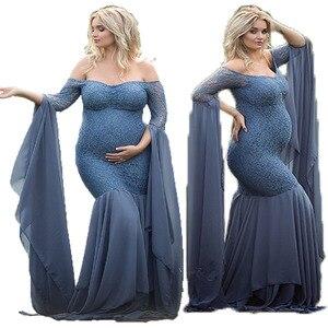 Image 2 - Mutterschaft Fotografie Requisiten Kleider Für Schwangere Frauen Kleidung Spitze Mutterschaft Kleider Für Foto Schießen Schwangerschaft Kleider Kleidung