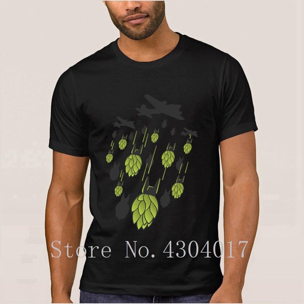 Hop Bomber Craft Beer T Shirt For Men Short Sleeve Letter Anti-Wrinkle Tee Shirt Summer Homme Size S-3xl Slogan Top Tee