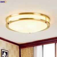 Медь Винтаж светодиодные светильники потолочные для дома Освещение Американский Спальня Гостиная свет plafondlamp светильник Lampara TECHO