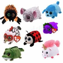 fbf91d62f0f 10CM Mini teeny tys Ty Plush Toys Beanie Boos Big Eyes fox unicorn Pocket  TSUM Candy pig Stuffed Doll Pink Owl TY Baby Kids Gift