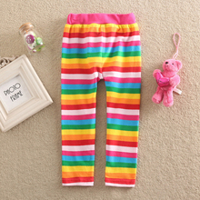 New 2016 Fashion Kids Girls Full Length Pencil Pants Character Pattem Girl Children leggings