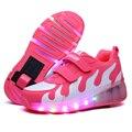 Niño Jazzy ruedas, Chicas jóvenes/Niños Luz LED ruedas, niños roller skate shoes, niños Luminosos Zapatillas de Deporte Con Ruedas Individuales