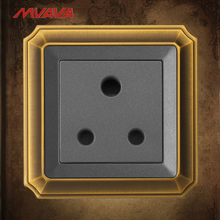 MVAVA 15A Wall Socket 3 Round PIN Receptacle South Africa Standard Decorative Outlet  Luxury Bronzed Panel Free Shipping