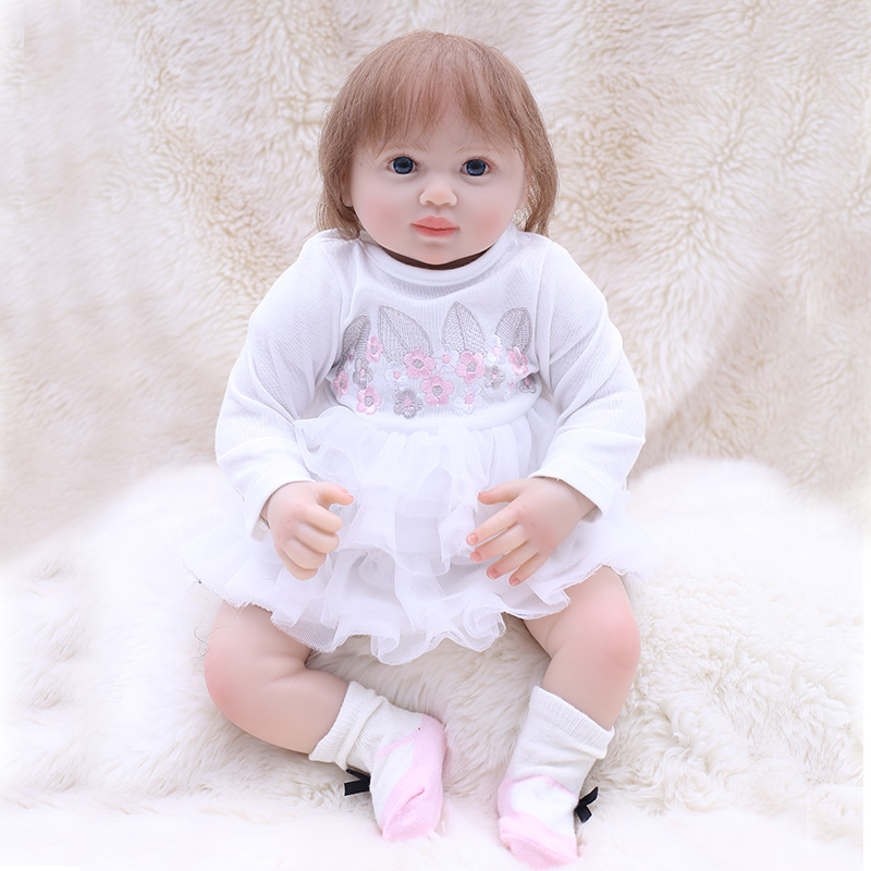 OtardDolls 50cm 20 Pink Rabbit Vinyl Reborn Baby Doll Toy For Girl Boys boneca Dolls For Children Birthday Gifts Baby DressOtardDolls 50cm 20 Pink Rabbit Vinyl Reborn Baby Doll Toy For Girl Boys boneca Dolls For Children Birthday Gifts Baby Dress