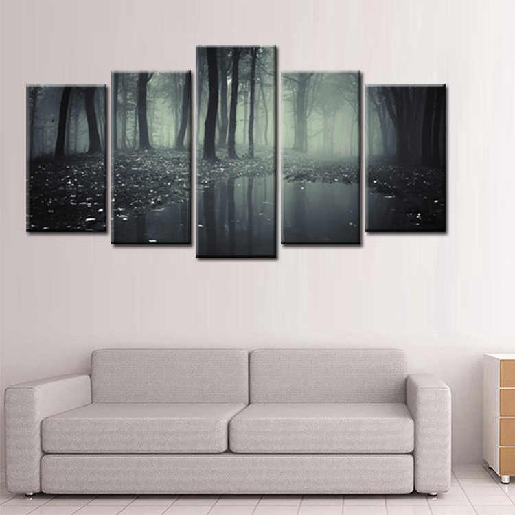Fashion Frame Wall Decorations 5pcs / Set Modern Movie poster jungle Canvas Print Artist Canvas Decoration/Abstract (137)