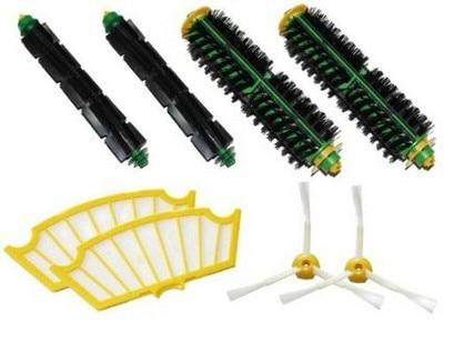 2 set Brush kit +2 Filter For iRobot Roomba 500 510 520 530 540 550 560 570 610 etc.Vacuum Cleaner Accessory Replacment akg ivm4500 set bd7 500 1 530 5