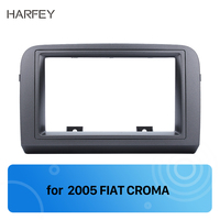 Harfey 2Din CD Radio Trim Installation Kit Fascia Frame for FIAT CROMA 2005 Dashboard Stereo Dash Frame Panel Black Color new