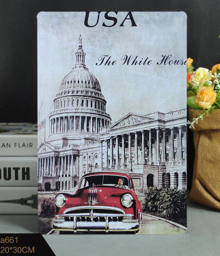 Aliexpress.com : Buy 30X20CM USA White House Vintage Home Decor Tin ...