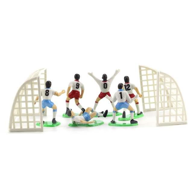 8pcs Set Soccer Player Dolls Cake Decorating Tools Cake Accessories
