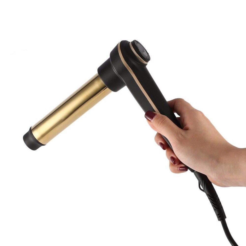Для завивки волос с еще тепло 24 К Позолоченные длительный curts и цифровой точность Температура Дисплей ЕС/ US/UK plug новый