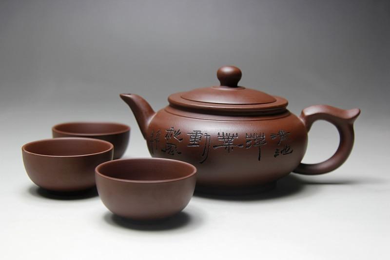 Image 5 - Top Sale Kung Fu Tea Set Yixing Teapot Handmade Tea Pot Cup Set 400ml Zisha Ceramic Chinese Tea Ceremony Gift BONUS 3 CUPS 50mlgift giftsgift tea setsgift set -