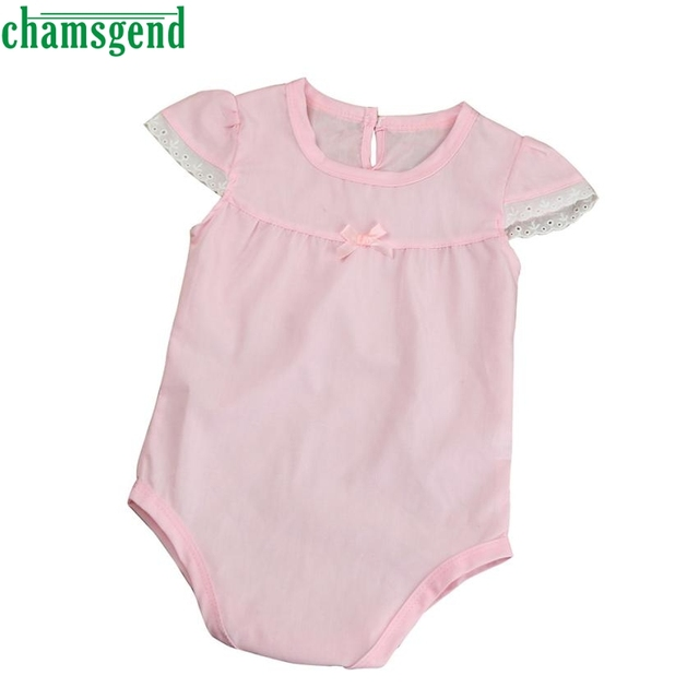 CHAMSGEND cute lace with a dressing gown Summer Newborn Baby Girls ...