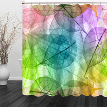 Simple Leaves Geometric Pattern New 3 Shower Curtains Bathroom Curtain Waterproof Thickened Bath Customizable