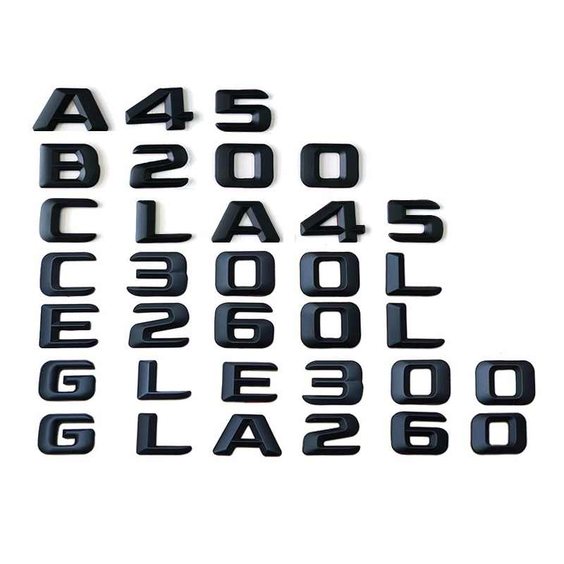 Untuk Mercedes Benz AMG C CLK CLS Kelas C43 C55 CL55 CLK55 CLS63 Batang Belakang Emblem Lencana Chrome Huruf Sticker