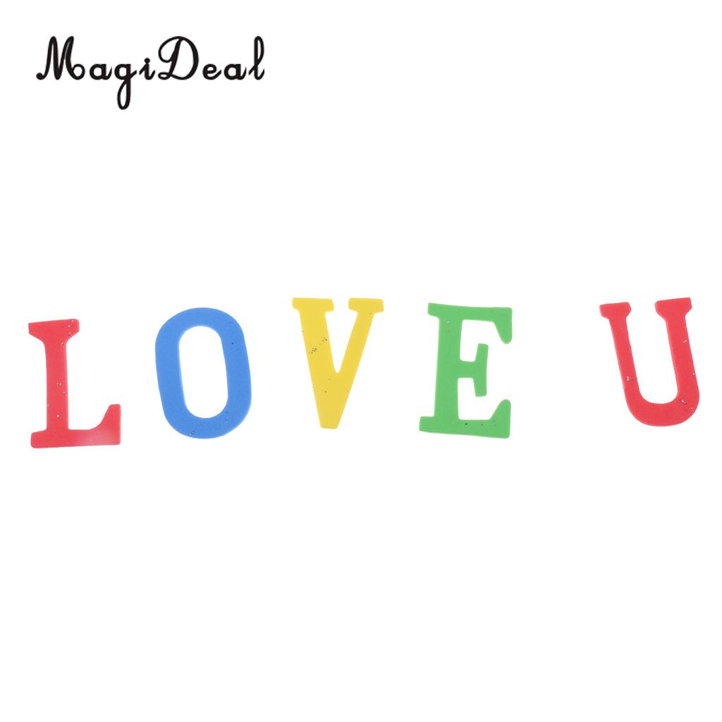 150 Pieces Novelty Adhesive Foam Letters Shaped Self-adhesive Random Colors
