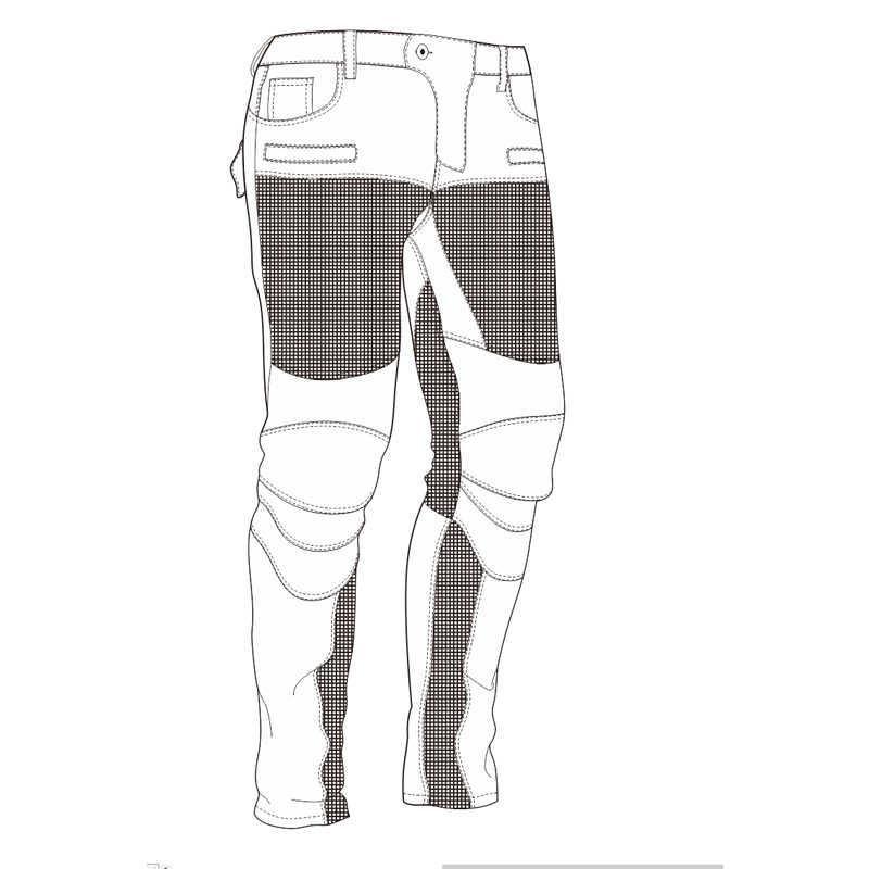 Yaz Erkekler Motosiklet Sürme Pantolon Moto pantalon Kot Koruyucu Pantolon Motokros Yarış Denim Kot 4 X Diz Kalça Pedleri