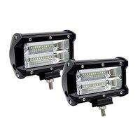 Led Light Bar 72W 5 5Inch Spot Beam 6000K 12V Led Bar LED Work Light Bars