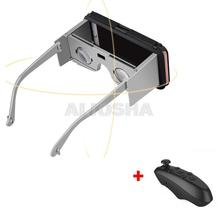 Google Cardboard Headmount VR BOX Version Smartphone Compatible Device 3D Glasses for 4.7 Smartphone+Bluetooth Remote Controller