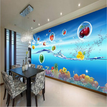 3d Photo Wall Paper Decorative Painting 3d Wallpaper for Wall Home Improvement Fruits Vegetables Colorful Restaurant Background