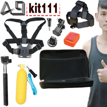 A9 Sports Action Camera Accessores Kit for C30/C30R/C50/C10S/S70/S60/S60B/C10 SJCAM M10 SJ4000/SJ5000/SJ5000X Gopro Hero 4
