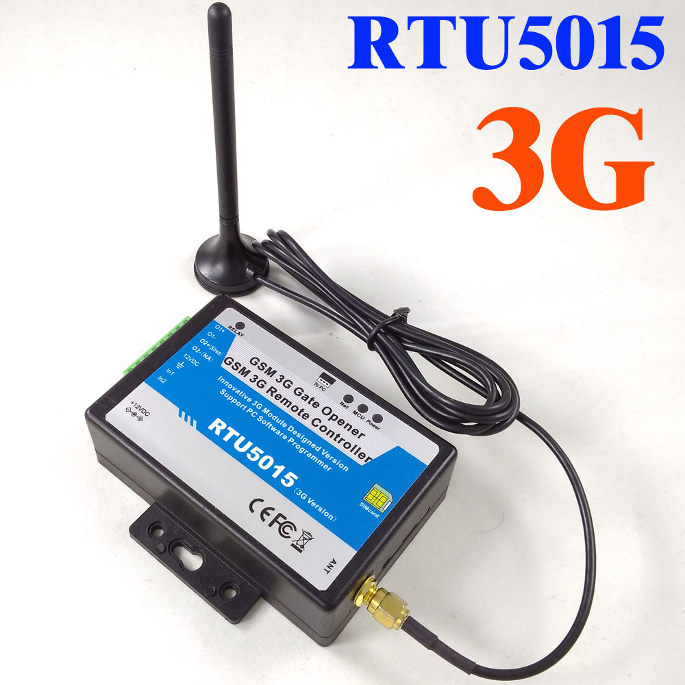 3G vesion RTU5015 GSM Gate Opener Two alarm input with Relay switch Remote Access Controller