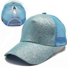 Женская кепка для тенниса со вспышкой и конским хвостом, Спортивная Кепка, бейсболка с сеточкой и регулируемым ремешком, Спортивная Кепка для бега и верховой езды
