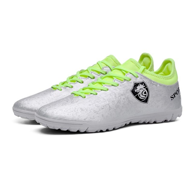 1ab250c4f Youth Men Football Training Shoes Student Indoor Sports Futsal Shoes Cleats  Sneakers Boy Soccer Professional Trainer Footwear