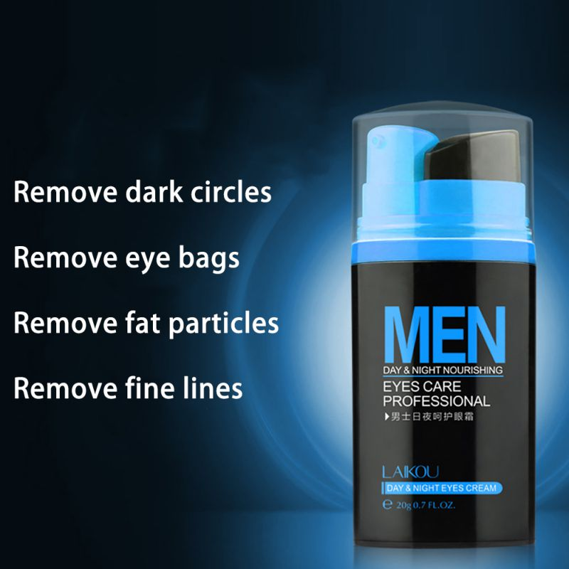 Men Day And Night Anti-wrinkle Firming Eye Cream Skin Care Black Eye Puffiness Fine Lines Wrinkles Face Care Product 5