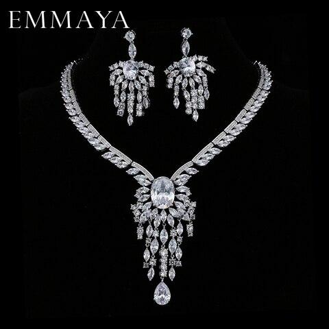 Emmaya Рождественский подарок роскошное серебряное ожерелье
