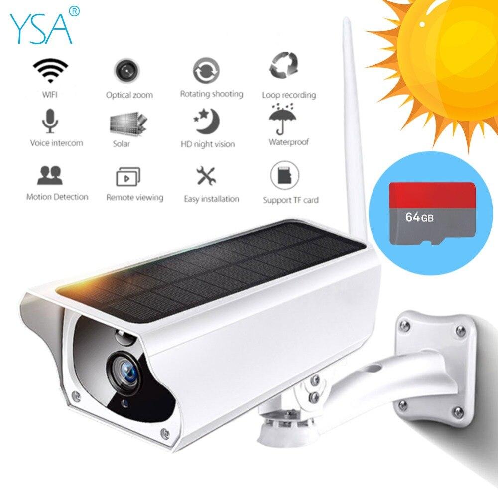 1080P HD Wifi Wireless IP Camera Outdoor Solar Waterproof Home Security Surveillance IR Night Vision Two-way Audio Cloud Storage