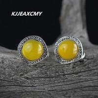 KJJEAXCMY S925 bijoux en argent sterling, mode dame, diamant, la marqueterie topaze, oreille boucle
