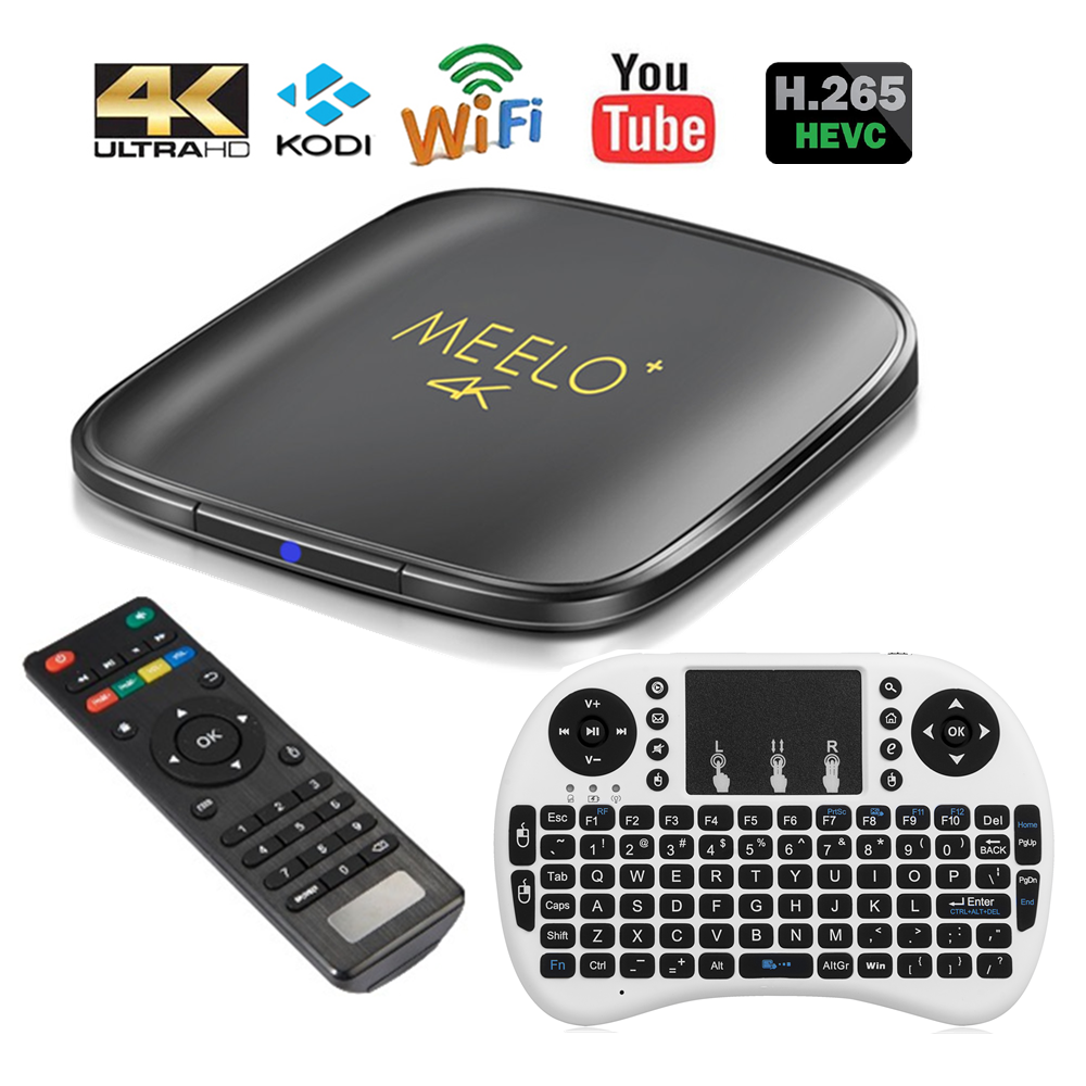 Genuine Meelo 4K Amlogic S905X TV Box font b Android b font 6 0 Marshmallow