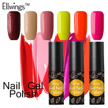 Ellwings 29 Color font b Nail b font Gel Polish Glitter Hybrid Colorful Gel Lacquer Long