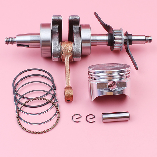 Crankshaft 39mm Piston Pin Ring Circlip Kit For Honda GX35 GX 35 4 Stroke Lawn Mower Small Gas Engine Motor Part