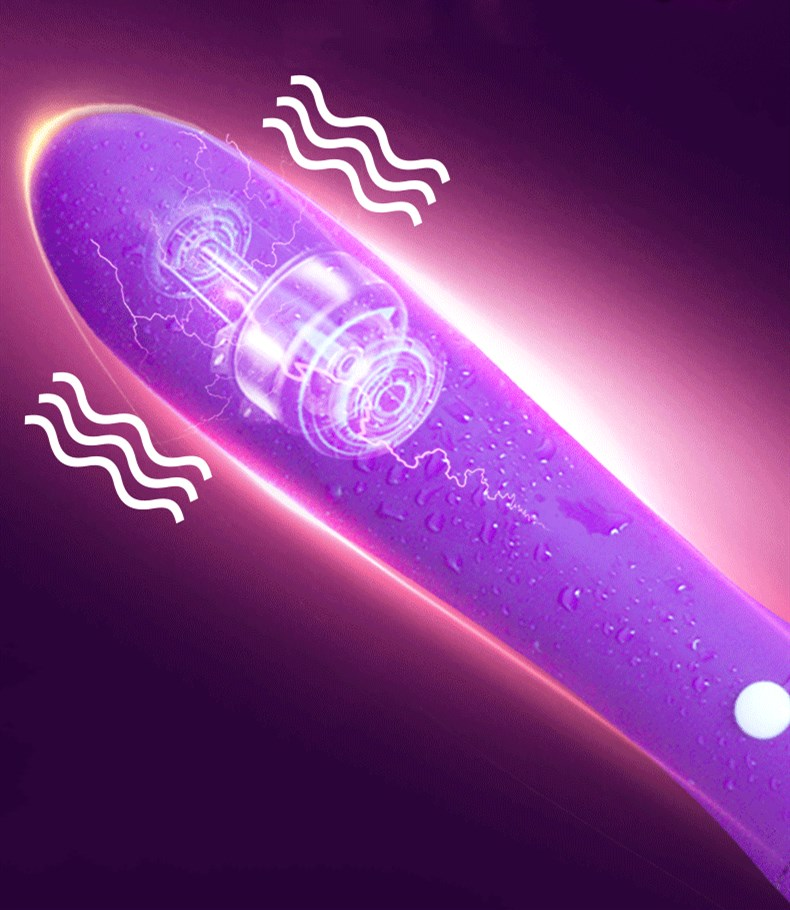 Warm silicone female rechargeable mute vibrator masturbation telescopic vibrator av adult sex toys in Vibrators from Beauty Health