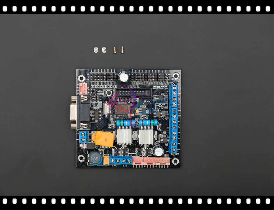 DFRobot SDB Sensor/Motor Drive Board Cortex M3 6-12V Support RS232/TTL I2C RS485 SPI CAN with 2 way 4A DC motors Drive interface feed motor board for roland rs 640