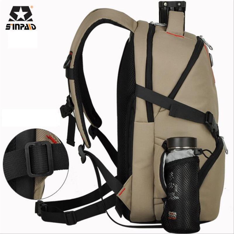 SINPAID SLR Camera Backpack Famous Brand Travel Backpacks High Quality Oxford Casual Mens Bag High-capacity Womens Bags M500