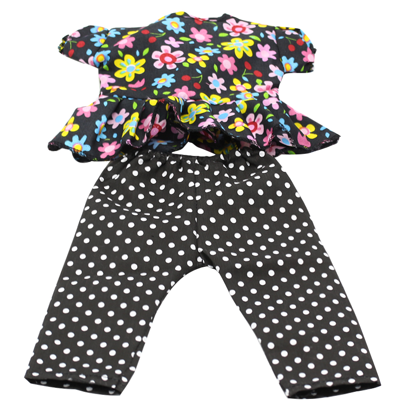 Baby-Born-Doll-Clothes-Floral-Shirt-Trousers-Suit-Fit-43cm-Zapf-Baby-Born-43cm-Doll-Accessories-Best-Birthday-Gifts-044-5