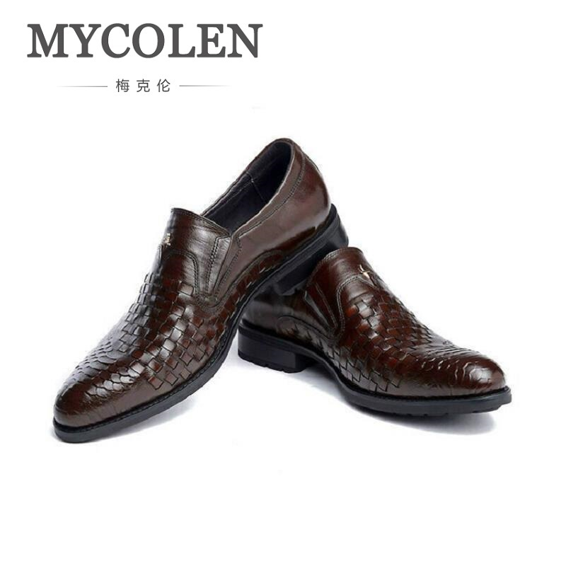 MYCOLEN Mens Leather Lace-Up Dress Shoes Luxury Mens Business Office Oxfords Man Casual Wedding Flats Sapatos Social MasculinoMYCOLEN Mens Leather Lace-Up Dress Shoes Luxury Mens Business Office Oxfords Man Casual Wedding Flats Sapatos Social Masculino