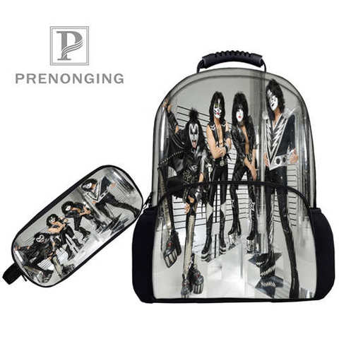 Custom 17inch KISS-Monster- Backpacks Pen Bags 3D Printing School Women Men Travel Bags Boys Girls Book Computers Bag#1031-01-51 Islamabad