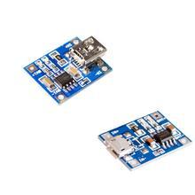 100ピース/ロットTP4056 1Aリポバッテリー充電器モジュールのリチウム電池のdiyミニusbポート +