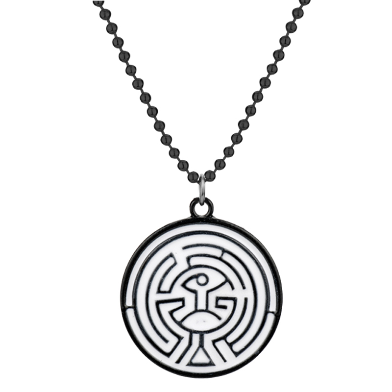 Westworld Necklace Maze Necklace Pendant Round Metal