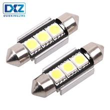 DXZ 2PCS 36mm CANBUS NO Error Auto Festoon Light C5W 5050 LED Car Interior Dome Lamp Reading Bulb White DC12V reading light