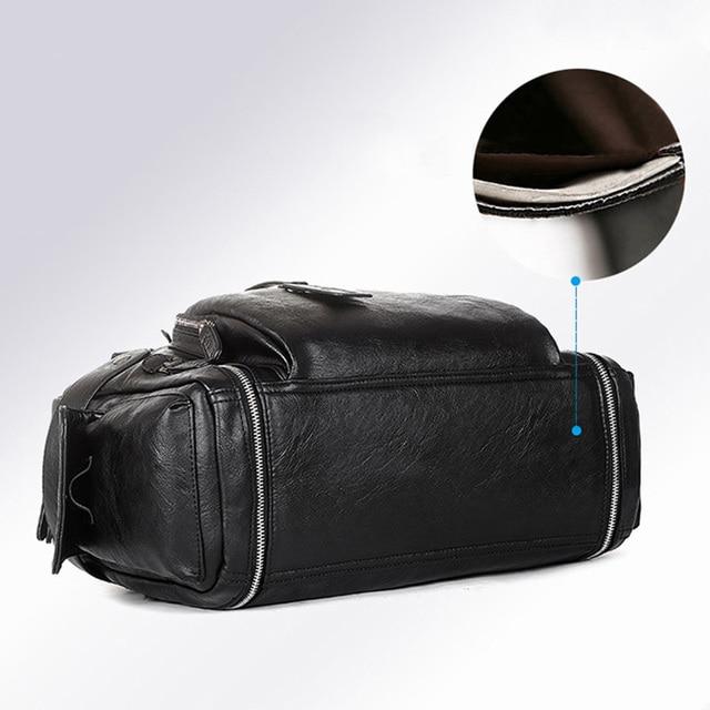 Brand Designer Travel Bag Leather Handbags Men's Casual Tote For Men Large-Capacity Portable Shoulder Bags Big Package XA214ZC 4
