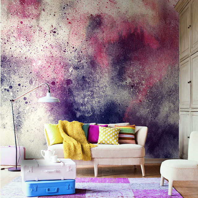Abstract Colorful Chinese Ink Painting Mural 3d Wall Photo Mural