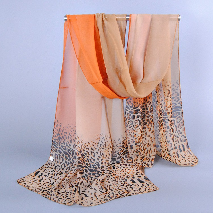 Summer Leopard Chiffon Scarf | Lightweight Scarves | Up to 60% Off Now