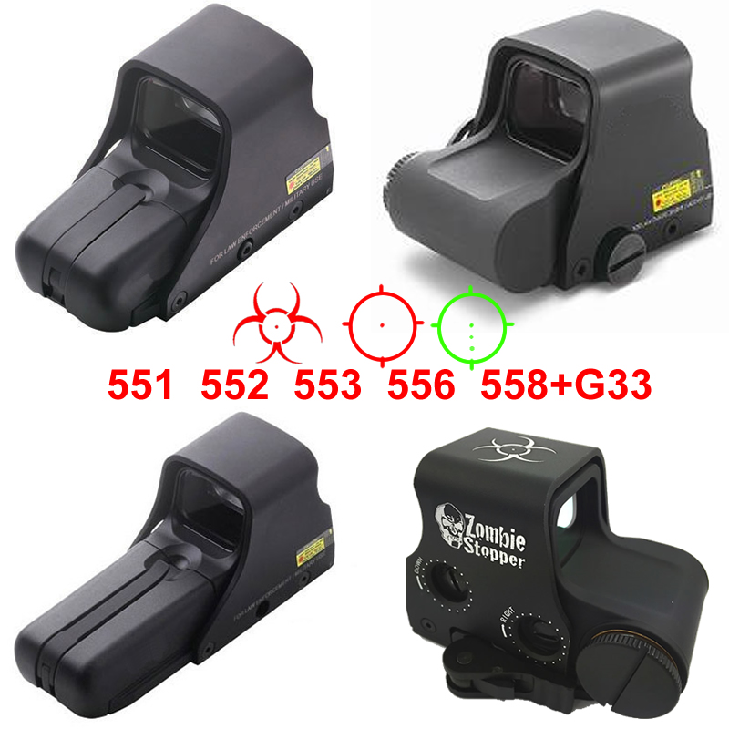 Collimator Holographic Sight Red And Green Dot Optic Sight Reflex Sight With 20mm Rail Mounts For Airsoft Sniper Rifle Hunting