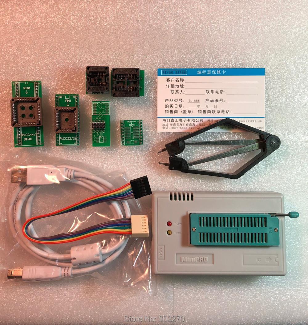 V7.05 XGecu TL866II Plus USB Programmer support 15000+IC SPI Flash NAND EEPROM MCU PIC AVR replace TL866A TL866CS + 6PCS ADAPTER