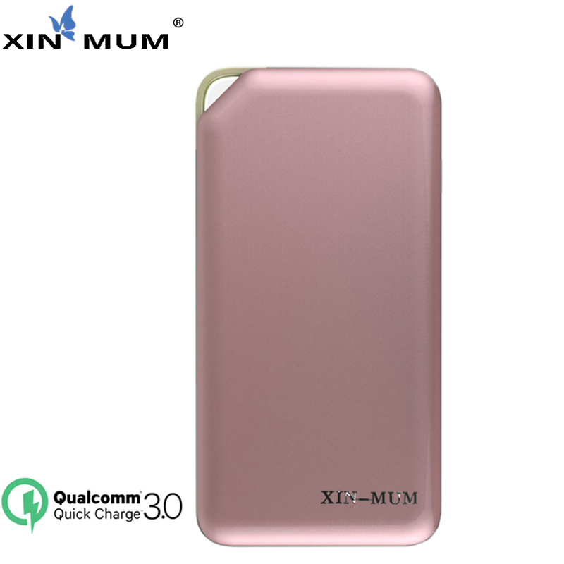 XIN-MUM Charge rapide 3.0 batterie externe 10000 mAh chargeur Portable Type C USB Micro Port batterie pour iPhone Samsung Huawei LG