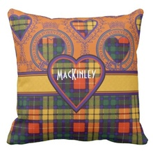 Soft Mackinley Clan Plaid Scottish Kilt Tartan Throw Cushion Cover (Size: 45x45cm) Free Shipping